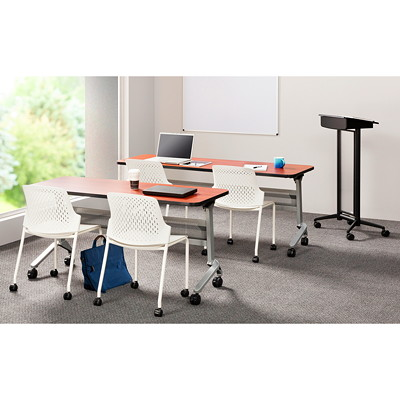 "FLIP-N-GO  24 X 60""  SILVER/MA TRAINING TABLE"