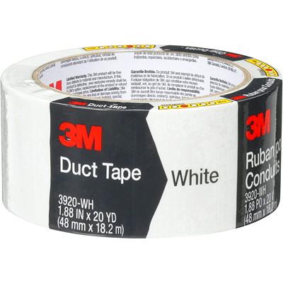 "3M 3920 General Purpose Duct Tape, White, 48 mm x 18.2 m 1.88""X20YD (48 MM X 18.2 M) 12 RLS/CASE"