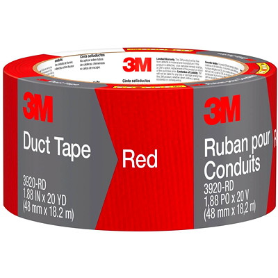 """3M 3920 General Purpose Duct Tape, Red, 48 mm x 18.2 m 1.88"""" X 20' (48 MM X 18 2 M)"""