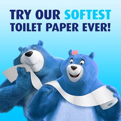 Charmin 2-Ply Ultra Soft Bathroom Tissue 12=24, White, 154 Sheets/Roll, 12/PK 154 SHEETS/ROLL