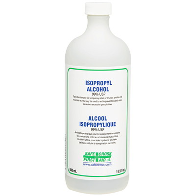 ISOPROPYL ALCOHOL 99% 500ML TOPICAL ANTISEPTIC AND ANTI-BA