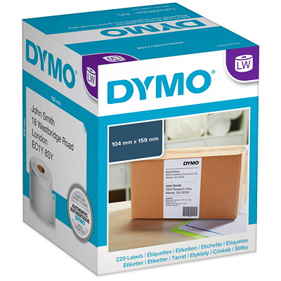 "DYMO LabelWriter Thermal 4XL Shipping Labels, White, 4"" x 6"", 220 Labels/BX  22O LABELS/BOX"