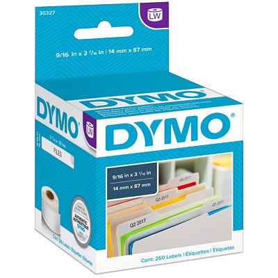"DYMO LabelWriter File Folder Thermal Labels, White, 9 1/6"" x 3 7 1/6"", 130 Labels/Roll, 2 Rolls/BX    130 LABELS/ROLL 2 ROLLS/BX DYMO COSTAR"