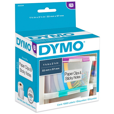 "DYMO LabelWriter Medium Multi-Purpose Thermal Labels, 2 1/4"" x 1 1/4"", 1,000 Labels/BX MULTIPURPOSE 1 000 LABELS/BOX"