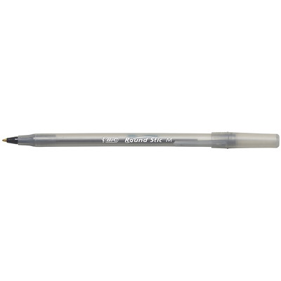 BIC Round Stic Ballpoint Stick Pens, Black, Medium Tip, 60/BX BULK BOX 60 PENS PER PK
