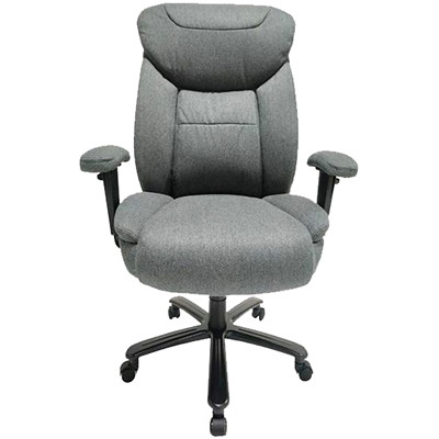 TygerClaw Big and Tall Executive Chair, Grey GREY FABRIC  COIL SPRINGS ON SEAT