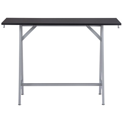 Safco Spark Standing Height Teaming Table, Asian Night Top/Silver Base ASIAN NIGHT/SILVER