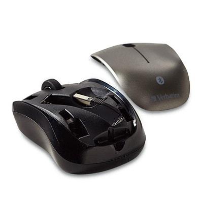 Verbatim Bluetooth Wireless Tablet Multi-Trac Blue LED Mouse, Black OPTICAL MULTI-TRAC BLUE LED