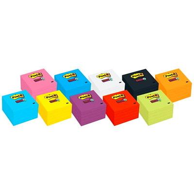 Feuillets super collants Post-it, jaune électrique, 3 po x 3 po, blocs de 70 feuillets, emb. de 5 654-5SSY-C ELECTRIC YELLOW 3INX3IN (76MMX76MM)