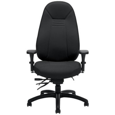 Global ObusForme Comfort High Back Multi-Tilter Chair, With Schukra, Fully Assembled, Echo Black Terrace Fabric Seat/Back HIGH BACK MULTI-TILTER  SCHUKR FULLY ASSEMBLED