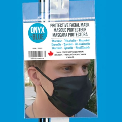 Onyx + Blue Protective Cloth Mask, Adult Size, Assorted Colours (No Colour Choice On Delivered Orders)