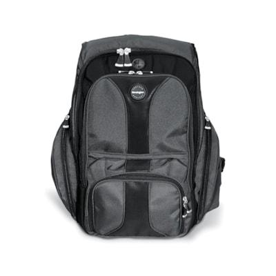 Kensington Contour Notebook Backpack BLACK ADJ LUMBAR SUPPORT PANEL PADDED CONTOURED SHLDR STRAPS