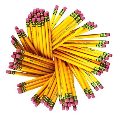 Dixon Ticonderoga Pencils with Erasers, #2 HB, Soft, 72/BX 72 COUNT SHRINK