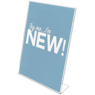 "Deflecto Classic Image Slanted Side-Loading Letter-Size Sign Holder 8-1/2"" X11"" DESK OR COUNTERTOP"