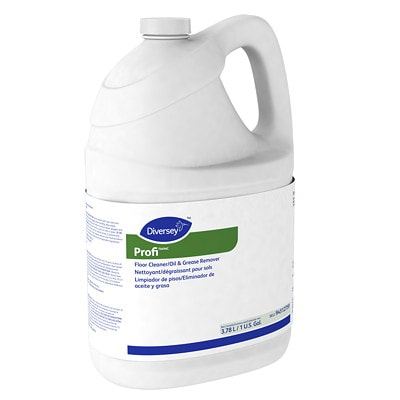 Diversey Profi Floor Cleaner/Oil and Grease Remover, 3.78 L GREASE REMOVER