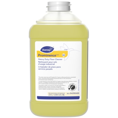Diversey Prominence Heavy Duty Floor Cleaner, 2.5 L J-Fill, 2/CT 2X2.5 L