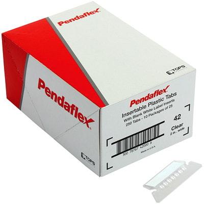 "Pendaflex Flexible 2"" Hanging File Insertable Tabs, Clear, 25/PK INSERTABLE REVERSAFLEX"