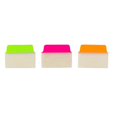 """Avery UltraTabs Repositionable Multi-Use Tabs, Assorted Neon Colours, 2"""" x 1 1/2"""", 48/PK  GREEN  PINK  ORANGE NEON COLOURS - 48 PACK"""