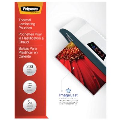 """Pochettes de plastification à chaud format lettre Fellowes, Emballage de 200 LETTER 9"""" X 11 1/2"""" 200/PK COMPATIBLE W/ALL LAMINATORS"""