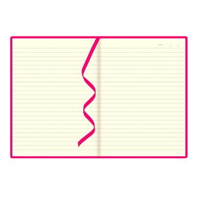 "Carnet Edge 8 1/4 po x 5 13/16 po Fuchsia Letts 192 RULED PAGES  CREAM PAPER 8 1/4"" X 5 13/16"""