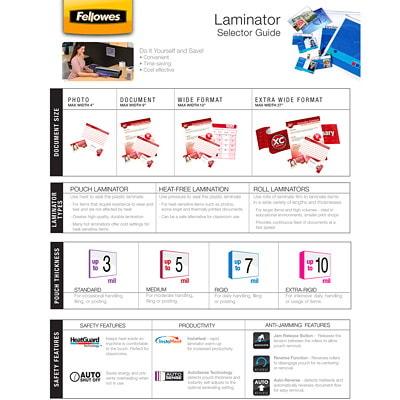 Pochettes de plastification à chaud format lettre Fellowes, Emballage de 50 FORMAT LETTRE  9X 11 1/2PO FLÈCHES DIRECT.  EMB. DE 50