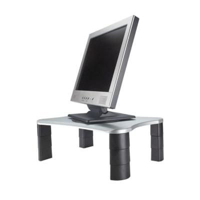 Grand & Toy Adjustable Monitor/Printer Stand, Platinum/Graphite