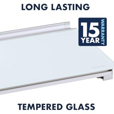 "Quartet® Glass Desktop Dry-Erase Pad, White, 18"" x 6"" DRY-ERASE COMPUTER PAD 18""X6"""