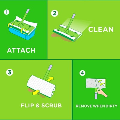 Swiffer Sweeper Wet Mopping Cloth Refills, Open-Window Fresh Scented, 24/PK OPEN WINDOW FRESH