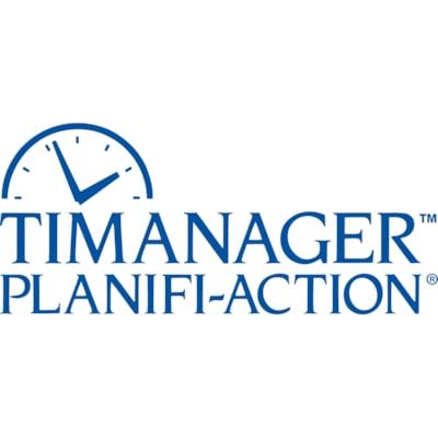 Blueline Timanager 13-Month Weekly Planner, Black, December - December, Bilingual 11 X 8-1/2 BILINGUAL 50% PCW  FSC CERTIFIED