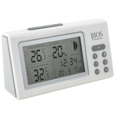 BIOS Living Wireless Thermometer and Hygrometer MOON PHASE MIN / MAX MEMORY