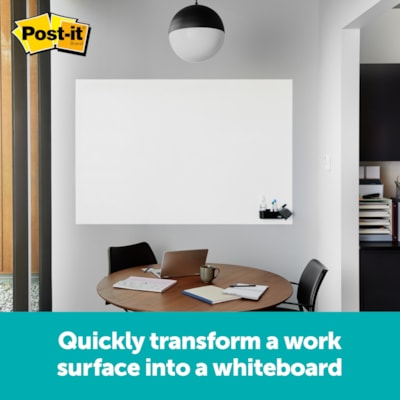 Post-it Flex Write Whiteboard Surface, White, 4' x 3' FWS4X3