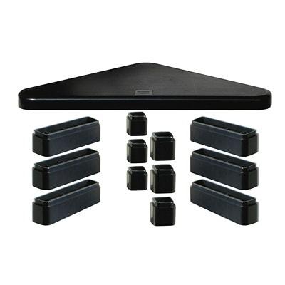 DAC Height-Adjustable Corner Monitor Stand BLACK