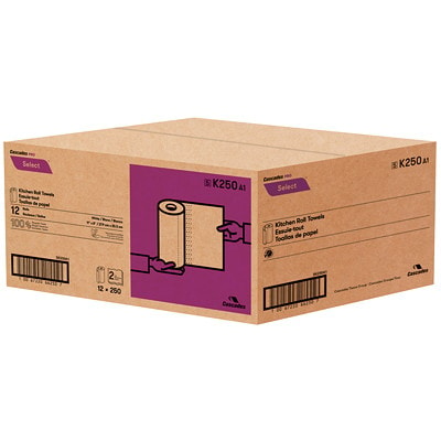 Cascades PRO Select 2-Ply Paper Towels, White, 250 Sheets/RL, 12/CS WHITE  250 SHEETS/ROLL 12 ROLLS/CASE 100% RECYCLED