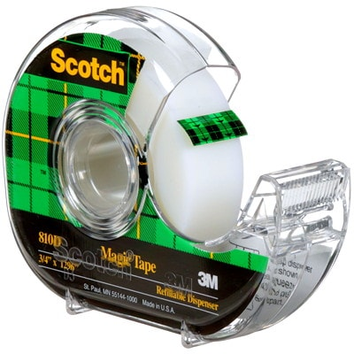 Scotch Refillable Tape Dispensers with Magic Invisible Tape, 19 mm x 33 m 32.9M LONG SCOTCH BRAND