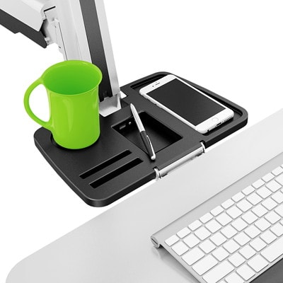 TygerClaw Single Monitor Gas Spring Desk-Mounted Sit-Stand Workstation, White WHITE WEIGHT CAPACITY IS 17 LBS