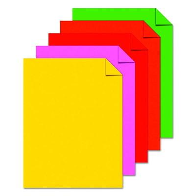 Papier Astrobrights Neenah, couleurs rétros, format lettre, certifié FSC et Green Seal, 24 lb, rame 8.5 X11 11.8M 5 COL ASST 500PK 24#