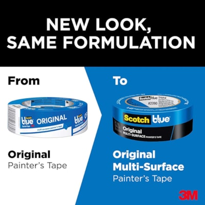 "ScotchBlue 2090 Original Multi-Surface Painter's Tape, 48 mm x 54.86 m 2090-48E-G 1.88"" X 60 YD"