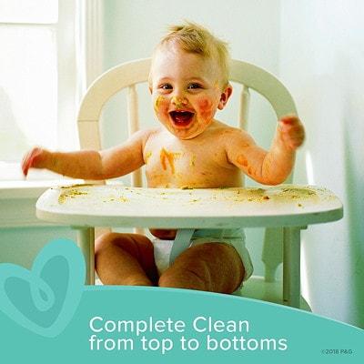 Lingettes pour bébé Pampers Sensitive, sans parfum, emb. de 18