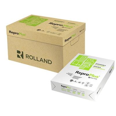 Papier recyclé ReproPlus Rolland, à 3 trous, blanc, format lettre, rame 20LB 94 GARANTI LASER 30% PCF CERTIFIÉ FSC