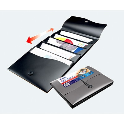 Avery Slide and View 5-Pocket Expanding File, Black, Letter Size EXPANDING FILE LETTER SIZE BLACK