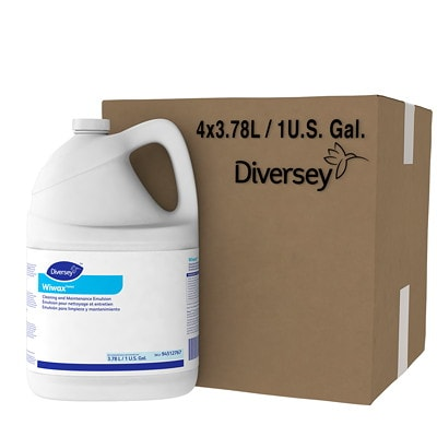 Diversey Wiwax Cleaning and Maintenance Emulsion, 3.78 L CLEANING & MAINTENANCE