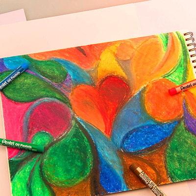 Pentel Arts Oil Pastels, 12/PK