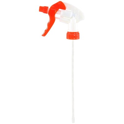 """Globe Commercial Products Trigger Sprayer, Red, 8"""" Tube 3 FINGER TRIGGER LEAK PROOF SPRAY HEAD"""