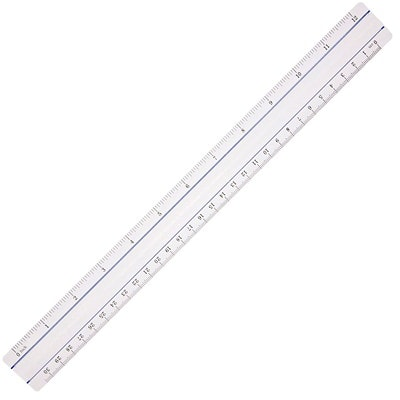 """Westcott Data Processing Magnifying Ruler, Clear, 12"""" CLEAR REGLE GROISSISSANTE 12""""/30CM"""