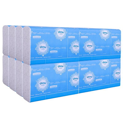 Kleenex 1-Ply Reveal Multifold Hand Paper Towels, White, 150 Sheets/PK, 16/CT WHITE HAND TOWEL