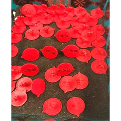 Plain Mail Pouch Seals, Red, 500/BX