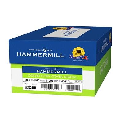Papier pour copies couleur Colour Copy Digital Cover Hammermill 80 # 100B COV PHOTOWH FSC 18 X 12