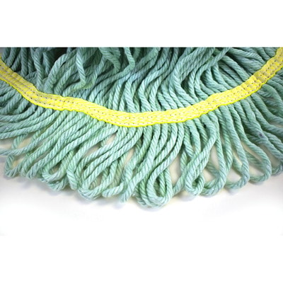 Globe Commercial Products Eco-Pro 32-oz Narrow-Band Wet Mop, Looped End MADE OF 100% RECYCLED MATERIAL LOOPED END  LAUNDERABLE