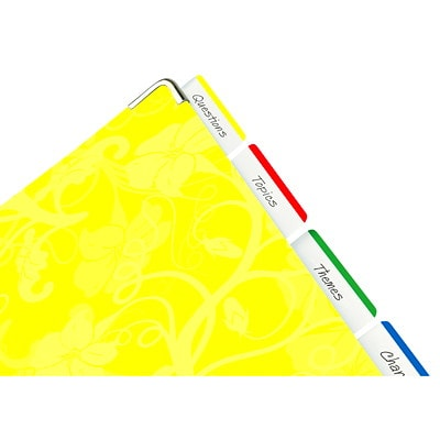 """Post-it Durable Filing Tabs with Assorted Primary Colour Bars, 2"""", 24/PK 2X1-1/2IN FLAT"""