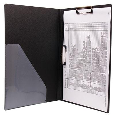 Écritoire à pince tabloïde (11 po x 17 po) VLB Duraply 3 PLY POLY WITH 2 CLIPS PVC FREE
